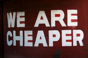 Cheaper sign