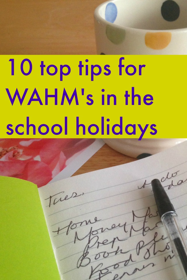 10 top tips for WAHM's