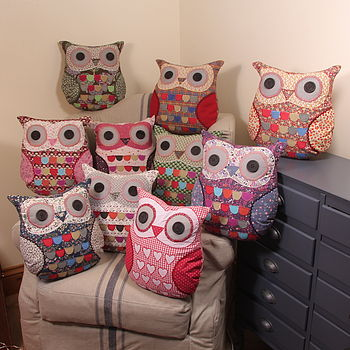 vintage owl, owl cushion