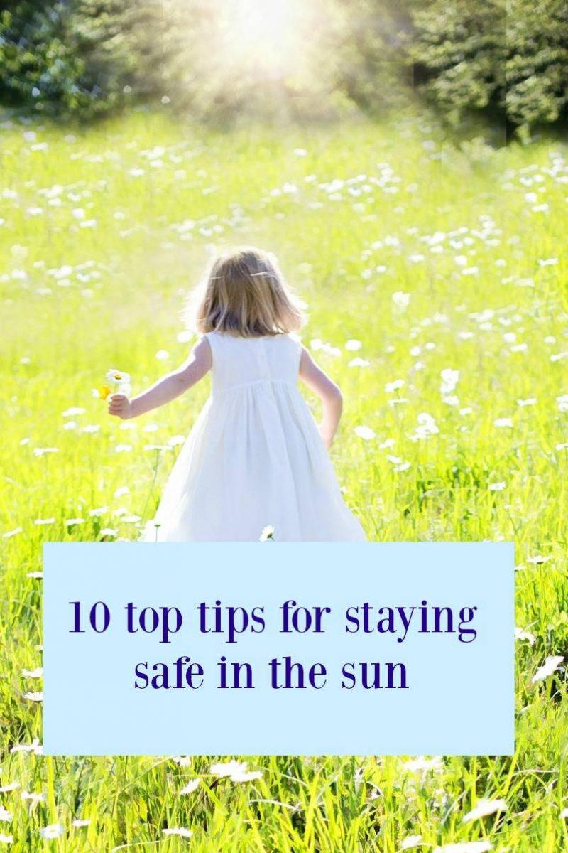 sun safety, safe sun tips, child sunshine