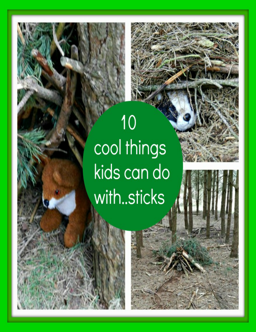 10 cool things kids can do with sticks, Things kids can do with sticks