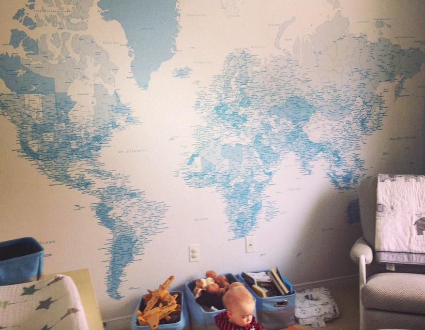 map wallpaper for kids