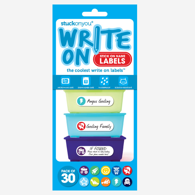 write on stick on