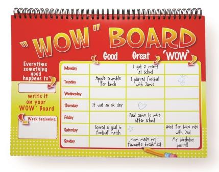 Wow-Board-detail-The-Kids-Coach, increas a child's postive attitude