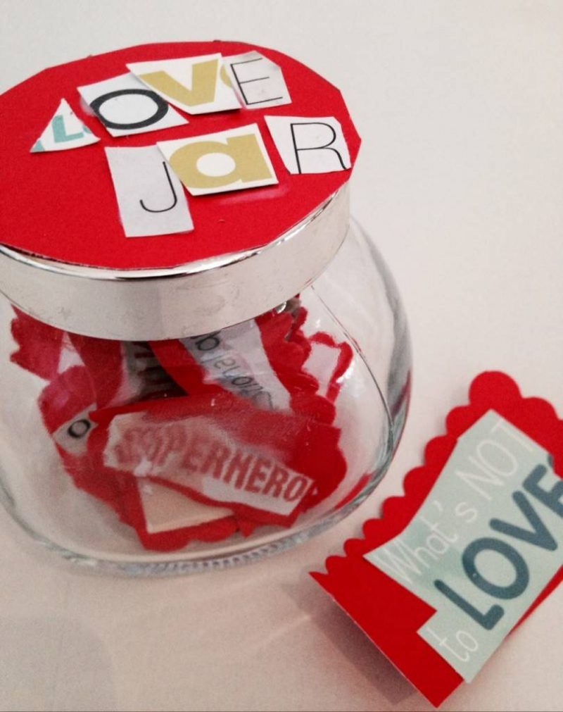 love jar, Valentines on a budget