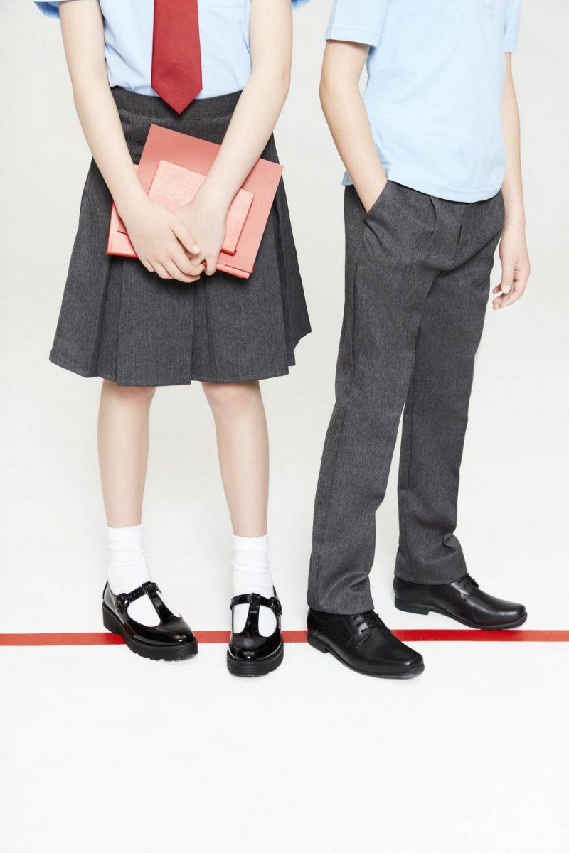 F&F 2PK BLUE POLOS -+¦2.50, LIGHT GREY PLEAT FRONT TROUSER -+¦4, OB MONK LEATHER -+¦18, CORE PLEAT SKIRT GREY -+¦3.50, OG CLEAT TBAR PAT PU -+¦15