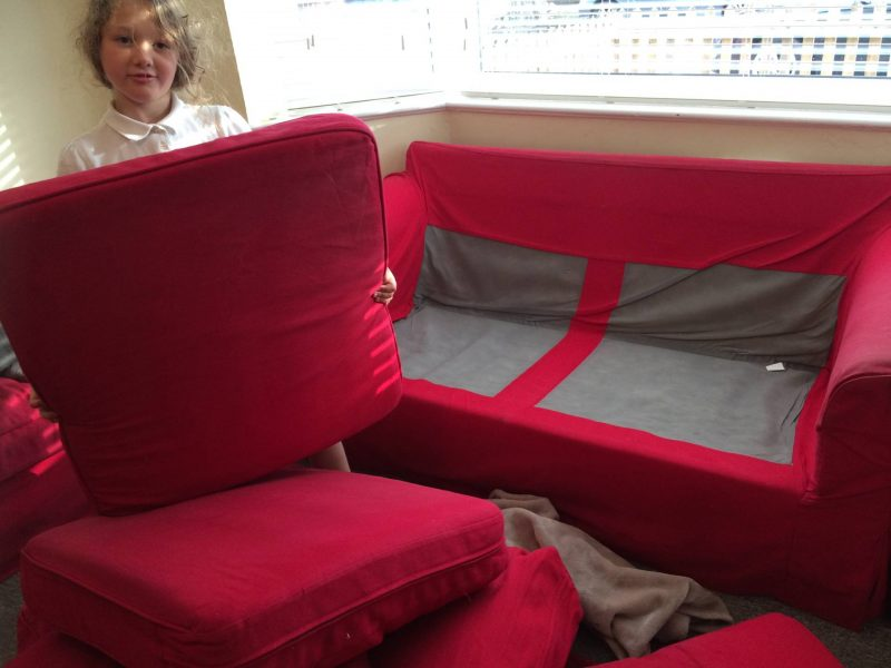 Today - how to make a sofa den